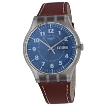 Men's Brown Vent Rubber Analogue Swatch Watch SUOK709
