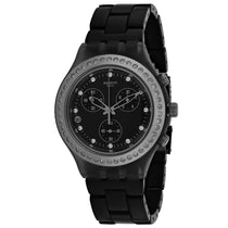 Ladies Black Full Blooded Stoneheart Stainless Steel Analogue Swatch Watch SVCM4009AG