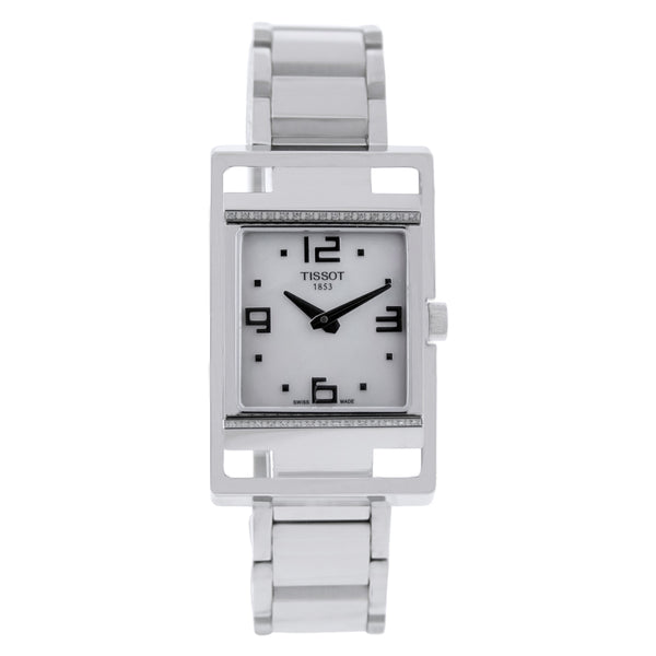 Ladies White T-Trend Stainless Steel Analogue Tissot Watch T0323091111701