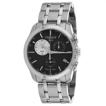 Men's Black Couturier Stainless Steel Chronograph Tissot Watch T0354391105100