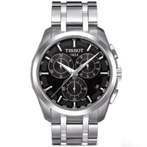 Men's Black Couturier Stainless Steel Chronograph Tissot Watch T0356171105100