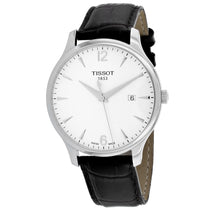 Men's Brown Tradition Leather Analogue Tissot Watch T0636101603700
