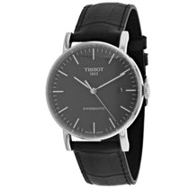 Men's Black Swissmatic Leather Analogue Tissot Watch T1094071605100