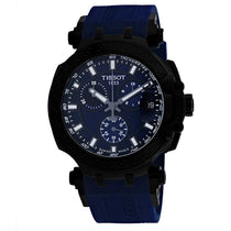 Men's Black T-Race Rubber Chronograph Tissot Watch T1154173704100