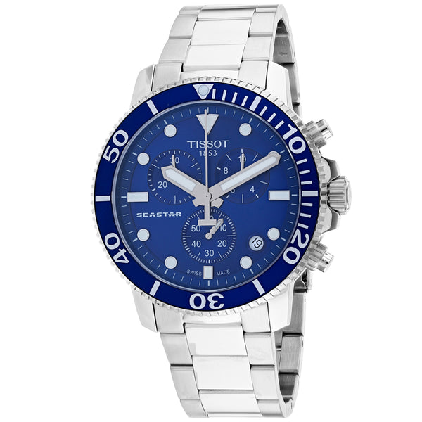 Men's Blue Seastar 1000 Stainless Steel Chronograph Tissot Watch T1204171104100