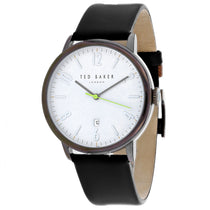 Men's Black Daniel Leather Analogue Ted Baker Watch TE15067003