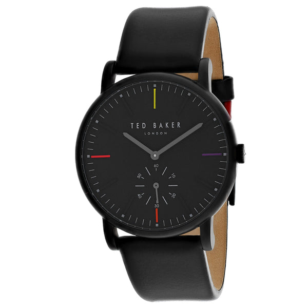 Men's Black Classic Leather Analogue Ted Baker Watch TE50072003