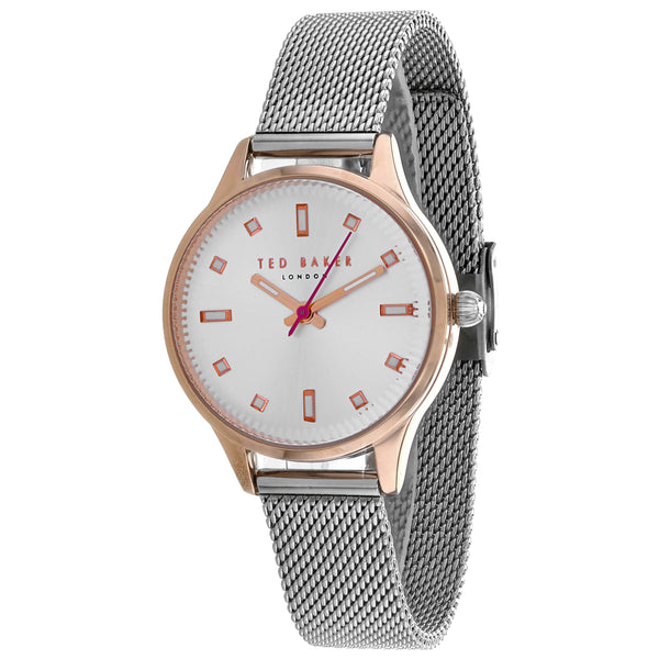 Ladies Silver Zoe Stainless Steel Analogue Ted Baker Watch TE50650003