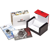 Men's Black Couturier Leather Analogue Tissot Watch T0354101605100