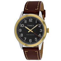 Men's Brown New England Leather Analogue Timex Watch TW2R22900