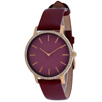 Ladies Red Metroline Leather Analogue Timex Watch TW2R51100