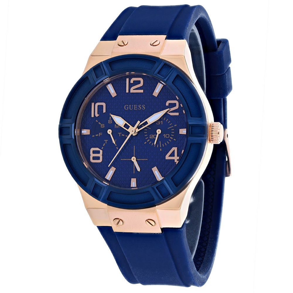 Men's Blue Sport Rubber Chronograph Guess Watch W0571L1