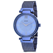 Ladies Blue Soho Stainless Steel Analogue Guess Watch W0638L3