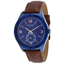 Men's Brown Dress Leather Chronograph Guess Watch W0873G2