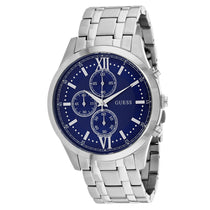 Men's Blue Hudson Stainless Steel Analogue Guess Watch W0875G1