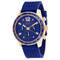 Men's Blue Fleet Rubber Analogue Guess Watch W0971G3