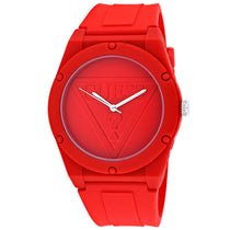 Ladies Red Retro Pop Stainless Steel Analogue Guess Watch W0979L3