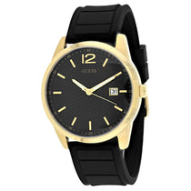 Men's Black Perry Rubber Analogue Guess Watch W0991G2