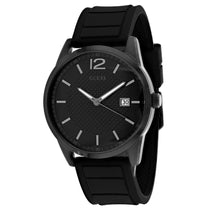 Men's Black Perry Rubber Analogue Guess Watch W0991G3