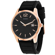 Men's Black Perry Rubber Analogue Guess Watch W0991G7