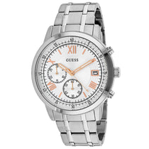 Men's Silver Summit Stainless Steel Chronograph Guess Watch W1001G1