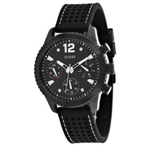 Men's Black Marina Rubber Chronograph Guess Watch W1025L3