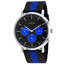 Men's Blue-Black Slate Nylon Chronograph Guess Watch W1045G1