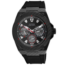 Men's Black Legacy Rubber Chronograph Guess Watch W1048G2