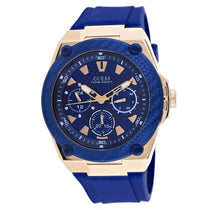 Men's Blue Legacy Rubber Chronograph Guess Watch W1049G2