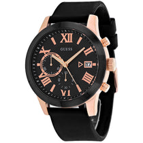 Men's Black Atlas Rubber Chronograph Guess Watch W1055G3
