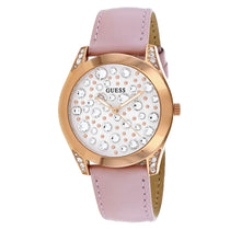 Ladies Pink Wonderlust Leather Analogue Guess Watch W1065L1