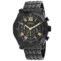 Men's Black Classic Stainless Steel Chronograph Guess Watch W1104G2