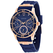 Men's Blue Valencia Rubber Chronograph Guess Watch W1157L3