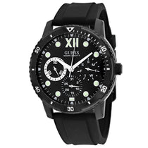 Men's Black Optimum Rubber Chronograph Guess Watch W1174G2