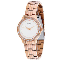 Ladies Rose gold Chelsea Stainless Steel Analogue Guess Watch W1209L3