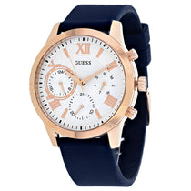 Men's Blue Classic Rubber Chronograph Guess Watch W1265L1