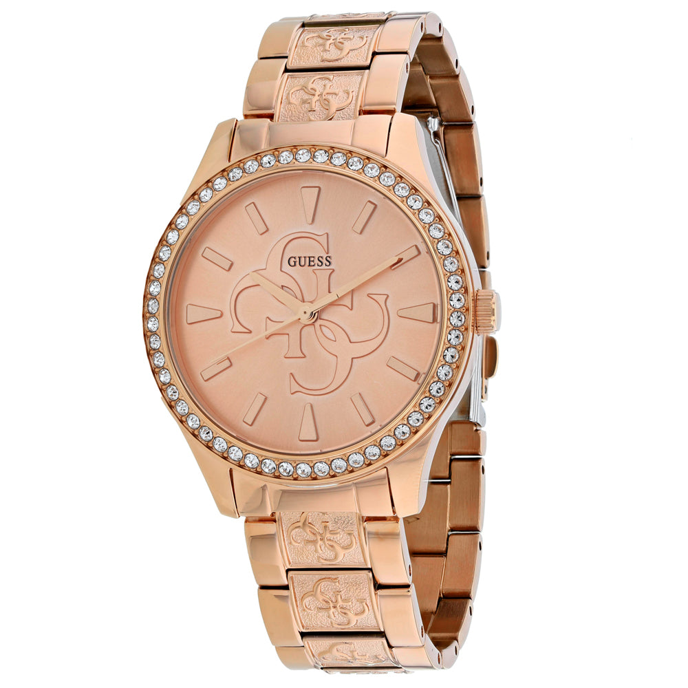 Ladies Rose Gold Anna Stainless Steel Analogue Guess Watch W1280L3