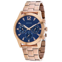 Men's Rose Gold Classic Stainless Steel Chronograph Guess Watch W1295L3