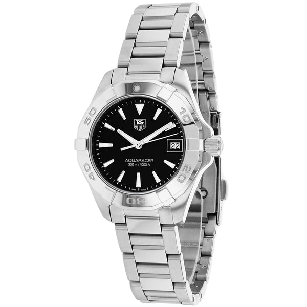 Ladies Black Aquaracer Stainless Steel Analogue Tag Heuer Watch WAY1410.BA0920