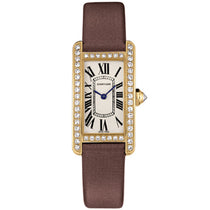 Ladies Brown Americane Leather Analogue Cartier Watch WB707231