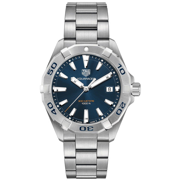 Men's Blue Aquaracer Stainless Steel Analogue Tag Heuer Watch WBD1112.BA0928