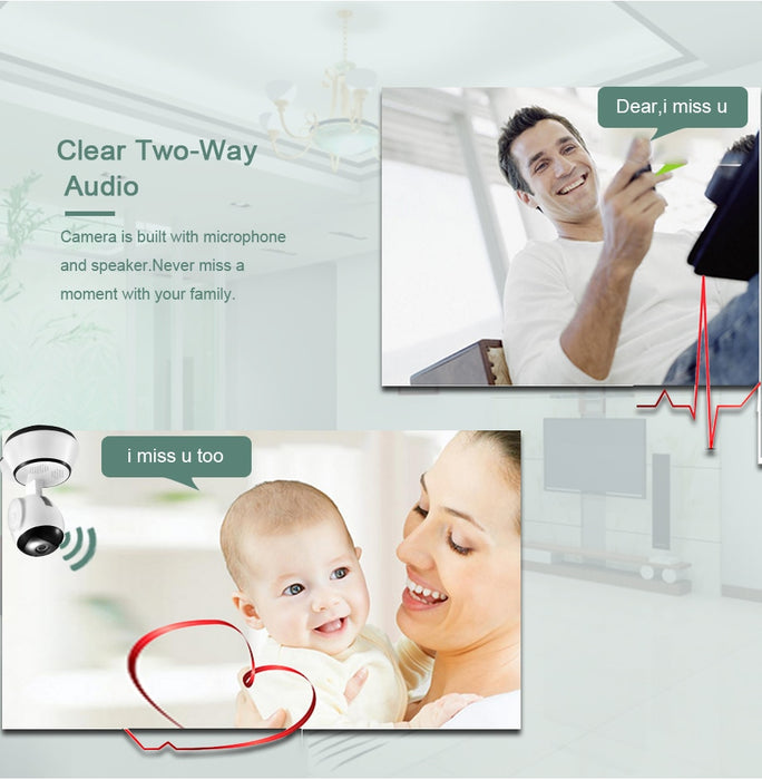 Wireless Smart WiFi Camera for Home Security Audio Record Surveillance
