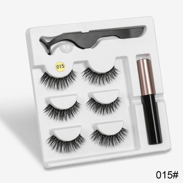 Newest Magnetic Natural Eyelashes with Eyeliner