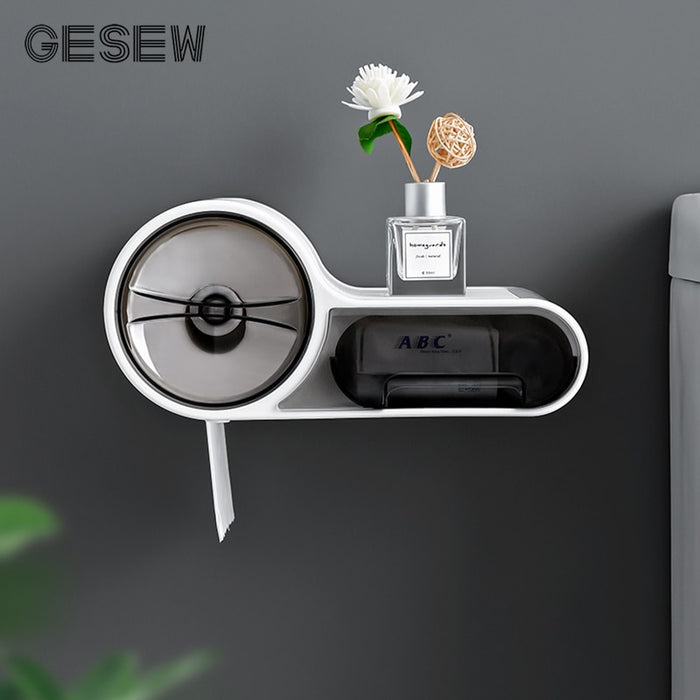 Portable Toilet Paper Holder For A Bathroom Waterproof Toilet Paper Holder / Wall-mounted Tissue Box WC Bathroom Accessories