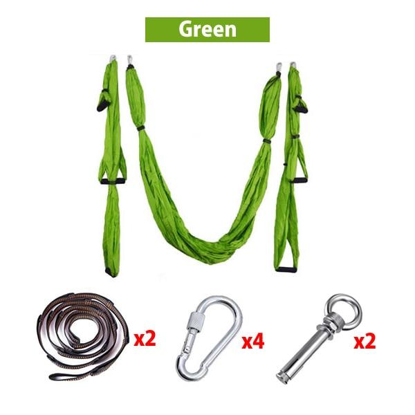 Home GYM Hanging Belt Aerial Yoga Hammock 6 Handles Strap - Joy Shop