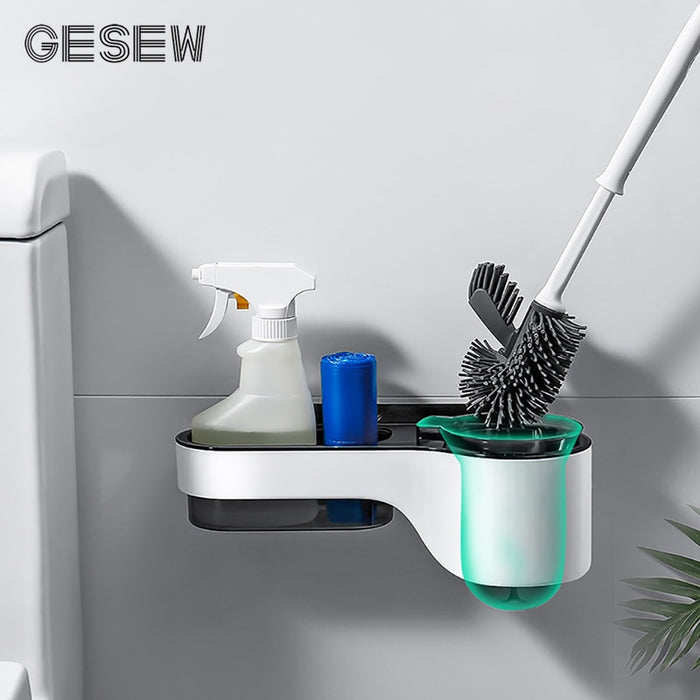 Toilet Brush Holder For Toilet Cleaning Brush  Multifunction WC Accessories Storage Rack Set