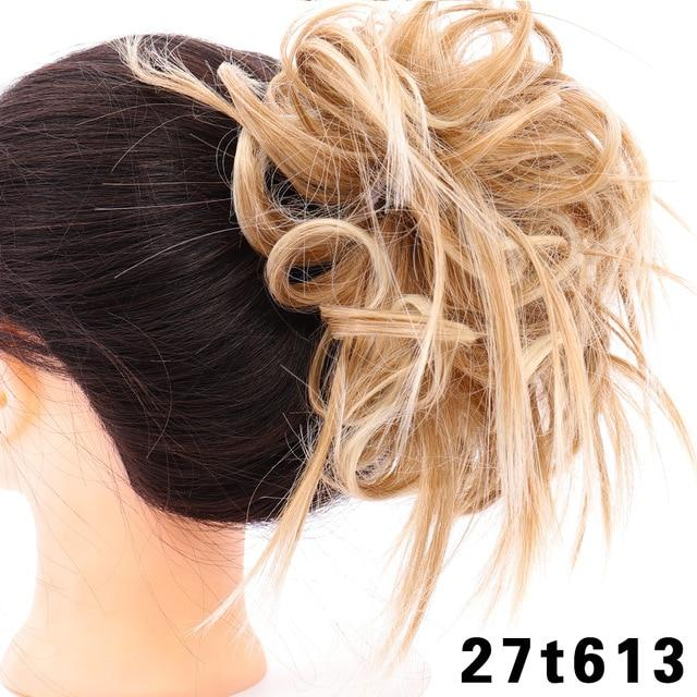 Lady Hair Extensions Wavy Curly Messy Hair Bun Extensions - Joy Shop