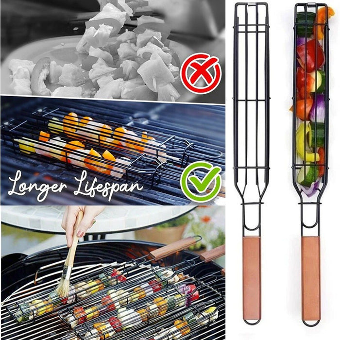 Non-stick Stainless Easy Kebab Barbecue Baskets - Joy Shop