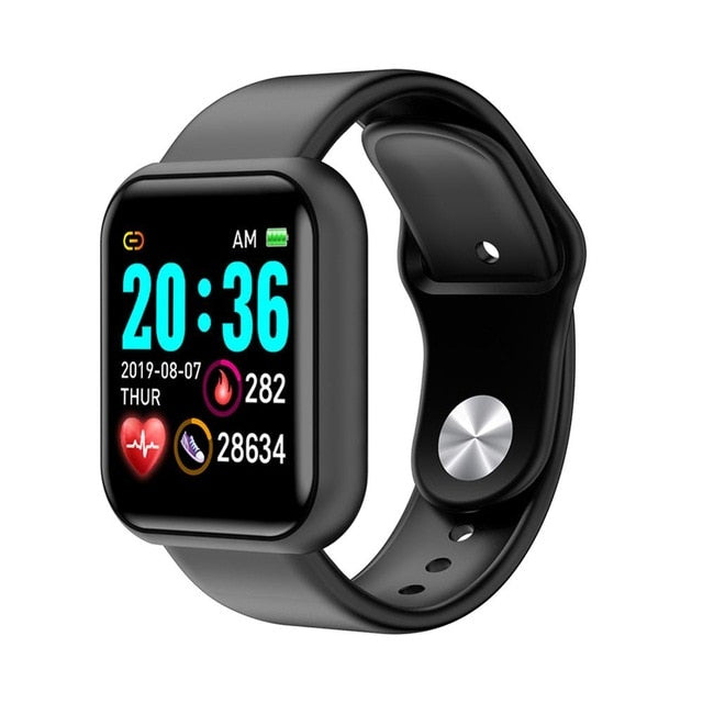 Men Women Waterproof Heart Rate Blood Pressure Monitor Bluetooth Smart Bracelet for iOS Android Fitness Tracker Smartwatch