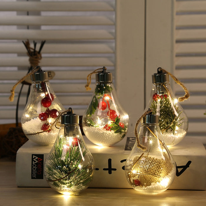 New Led Decoration Transparent Christmas Ball F